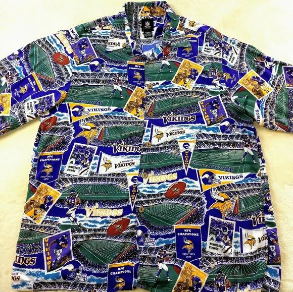 52717070a NFL MINNESOTA VIKINGS button front casual shirt. M 5b784a30aaa5b85e267ec6ab